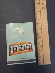 Vintage 1960-70s McCormick Wooden Gourmet Spice Rack Set Offer Matchbook