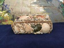 Vintage Natural Seashell Treasure trinket chest Lidded handcrafted Philippines