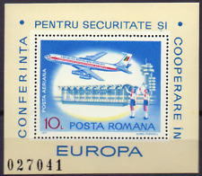 ROMANIA  RUMÄNIEN SHEET Mi. 143 MNH Boeing 707, Flugzeug, Landkarte, [001]