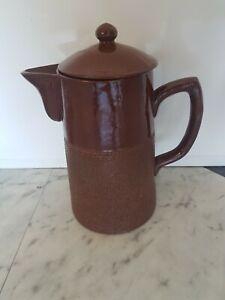 Pottery coffee pot