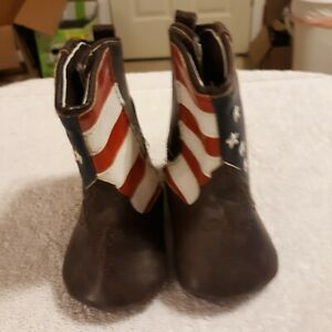 Infant Boy Brown Boots Size 6-9 mths by Rising Star