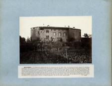 A. Rouget. France, Bagnols, Le Château  Vintage albumen print.  Tirage albumin
