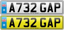 PRIVATE NUMBER PLATE - A732 GAP - GAP GA GP 732 BMW DENTIST TOOTH GAP CHEAP GAP