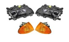Left & Right Marelli Halogen Lamps Headlights & Amber Turn Signals Kit For E46