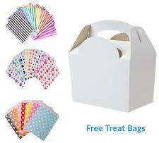 5 Caja De Alimentos Blanco Fiesta Cumpleaños Comida Almuerzo Cajas y bolsa gratis de Papel Caramelo Pastel