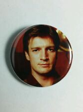 """SERENITY FIREFLY NATHAN FILLION RED MALCOLM MOVIE TV 1.25"""" PINBACK BUTTON PIN"""