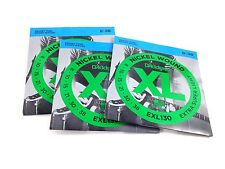 D'Addario Guitar Strings  3 Pack  Electric  EXL130  Light Top Heavy Bottom