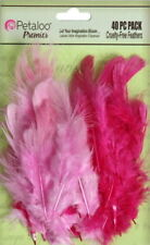 Mixed FEATHERS - Fuchsia/Pink - 40 per Pack - approx 6cm long Petaloo