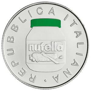 Italien - 5 Euro 2021 - Nutella - Grün - 18 gr Silber ST - in Farbe