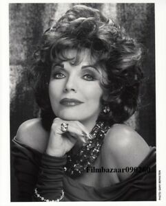 """JOAN COLLINS - 10"""" x 8"""" Colour Portrait Photograph & PERSONALLY SIGNED CARD"""