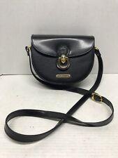 Vintage polo ralph lauren Black leather purse Crossbody satchel Rare