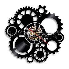 Steampunk Gear Cogs Wall Clock Cogwheel Vinyl Record Wall Clock Cycling Fan Gift