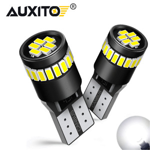 2x AUXITO T10 168 194 2825 White LED License Plate Side Marker Light Bulb Canbus