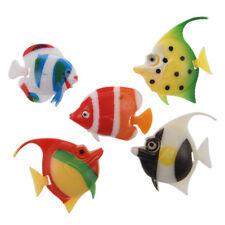 5 PIeCES poissons d'ornement en plastique pour aquarium Artificielle multicolore