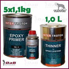 5x Inter Troton 2K Epoxy Primer + Härter + EP Verdünnung Epoxid Grundierung