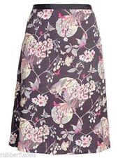 MONSOON Grey Lilac Oriental Blossom Bird Butterfly Print Skirt Size 18 BNWOT