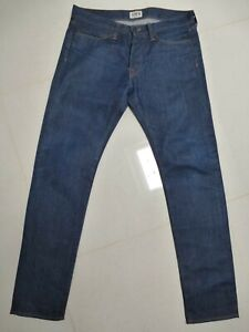 GENUINE EDWIN JEANS 31W 32L TAPERED LEG ED-75 WORN ONCE SUPERB CONDITION