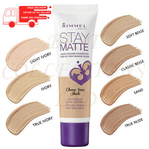 RIMMEL STAY MATTE LIQUID MOUSSE FOUNDATION 30ML - CHOOSE YOUR SHADE