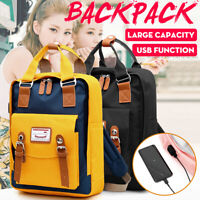 Fashion Canvas Backpack For Women/Men School Bag Waterproof Travel/Laptop Bag