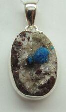 MUY ESCASO CAVANSITA colgante de cristal plata 925 Collar Cadena Superior RARO M