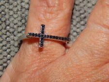 BLACK DIAMOND FINE CROSS CONTEMPORARY RING-SIZE R-0.100CTS