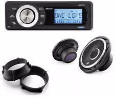 "Aquatic AV Bluetooth Stereo 288W kit w/Premium 6.5"" Speakers 98-13 Harley FLHX"