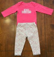Child of Mine Baby Girl Outfit Long Sleeve Bodysuit & Leggings - SIZE 12 MOS