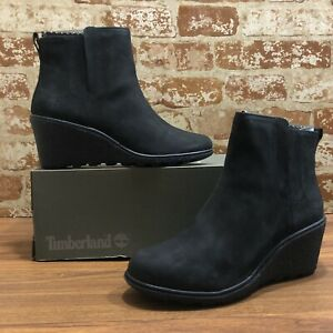 Timberland Amston A19AJ Women's  Lifestyle Leather Chelsea Wedge Boots SZ:8M