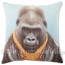 ZOO PORTRAIT GORILLA CHARACTER SUEDE FEEL ANNABEL TRENDS CUSHION 45x45cm **NEW**