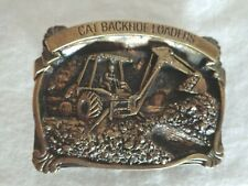 Cat Backhoe Loaders Heavy Equipment Brass Belt Buckle (#3273)