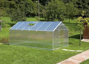 Aluminium Gewächshaus 10,17 m² Typ F6 inklusive automatischem Fensteröffner
