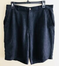 Tommy Bahama Men's Black Cargo Casual Relax 100% Silk Shorts Size 33