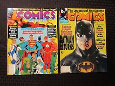 1992 Comics Scene Magazine #26 Vf #27 Vf Batman Returns / Justice League