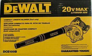 Dewalt DCE100B 20V Cordless Blower 20 Volt MAX Compact Jobsite 100CFM NEW