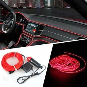 500CM Pure Red LED Car Auto Wire Strip Light Lamp Interior Decorative
