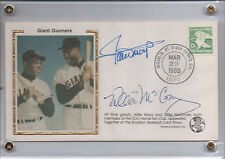 1985 WILLIE MAYS/ WILLIE MCCOVEY SIGNED RENATA GALASSO CACHET