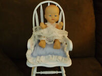 "8"" Playmate Doll with Rocking Chair and Pillow"
