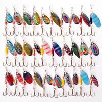 30pcs Lot Metal Fishing Lures Spinner Baits Crankbait Hooks Deco Fish F3V7