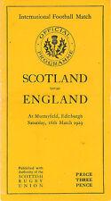 SCOTLAND v ENGLAND 1929 RUGBY PROGRAMME