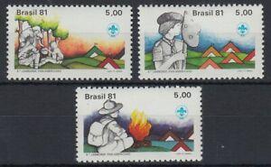 Brasilien 1981 ** Mi.1810/12 Pfadfinder Zelte Feuer [sv0582]