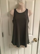 NWT-Junior Women's So Green Tank Top With Lace- Size Medium