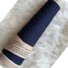 Navy Habu Cotton Gima Knit Crochet Weave Yarn