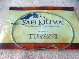 New/Sealed Safi Kilima Pure Mountain Pure Tanzanite Slide 18-inch Omega Necklace