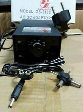ALIMENTADOR ADAPTADOR TRANSFORMADOR CORRIENTE UNIVERSAL AC-DC 1000Ma 5V 9V 12V