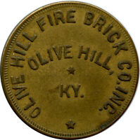 Olive Hill Fire Brick Co. Inc. Olive Hill, Kentucky KY 50 Trade Token