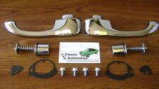 Door Handles 67 68 69 Camaro Firebird w/ Push Buttons Outside Pair *In Stock*