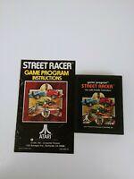 Atari 2600 Street Racer with Manual Tested