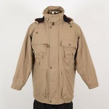 Men's Winter Warm Parka Jacket Size M Medium Beige SAVILE ROW