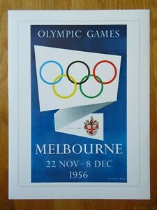 1896-96 Olympiad SUMMER OLYMPIC GAMES 1956 MELBOURNE Commemorative Poster