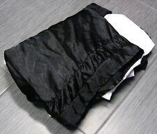 BLACK Shiny Gloss Black  Bed Skirt Bedskirt Dust Ruffle KING SIZE